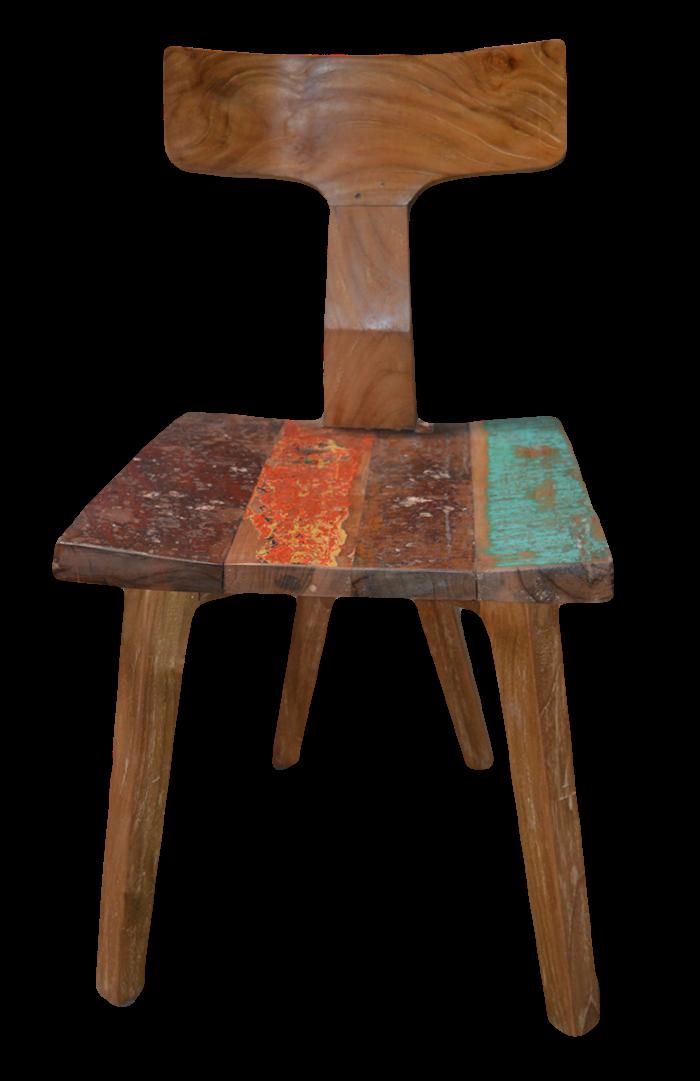 Mercier Carrelages Chaise En Bois De Teck Assise Color
