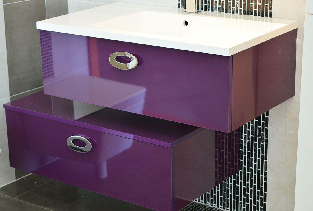 meuble salle de bain violet les derni res id es de design et int ressantes. Black Bedroom Furniture Sets. Home Design Ideas