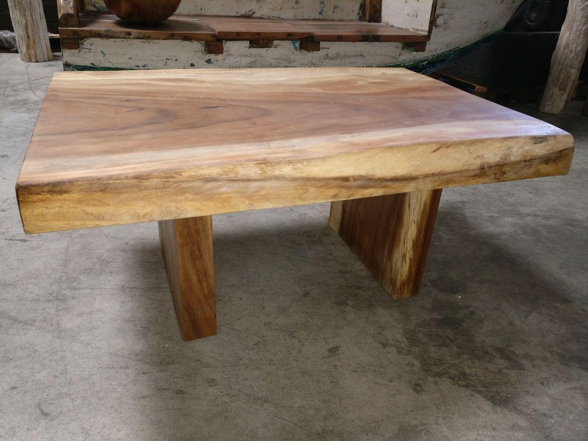 Mercier carrelages table basse bois de suar massif for Table exterieur en bois massif