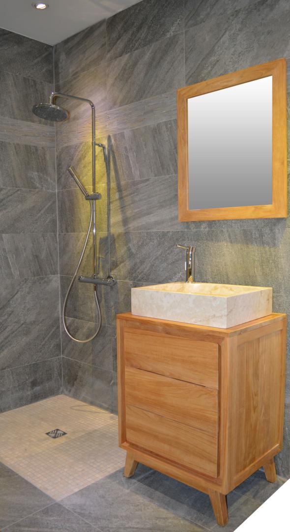 meuble salle de bain bois 60 cm