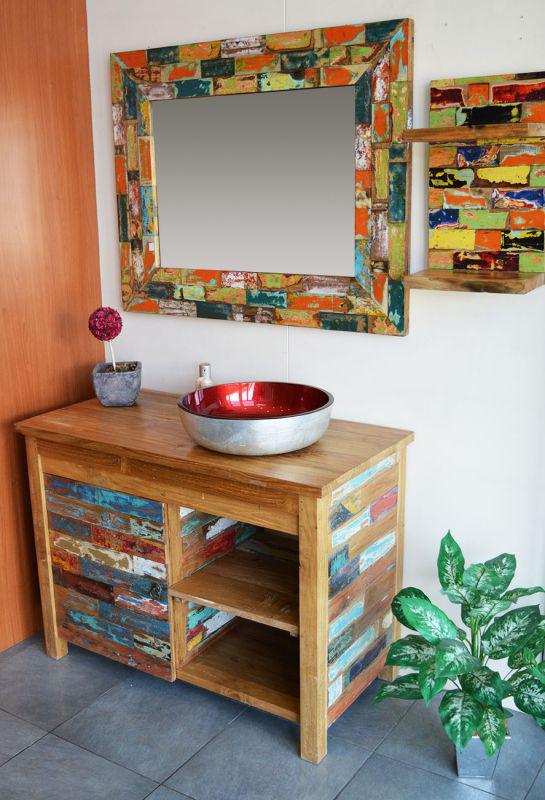 meuble salle de bain en bois recyclé