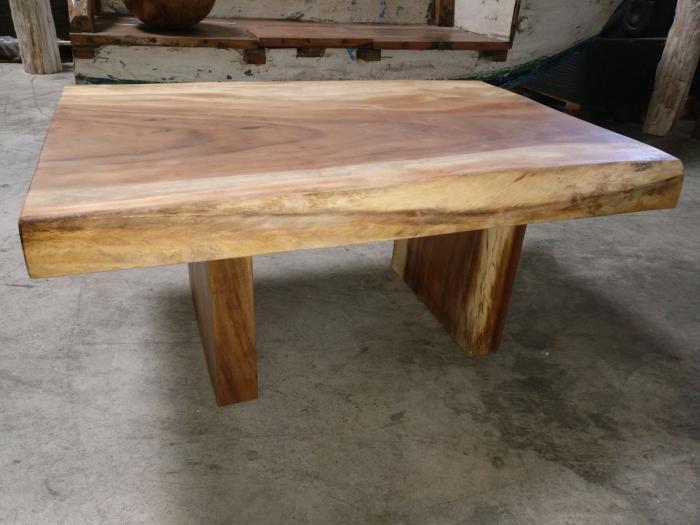 Table Basse En Bois Brut.Mercier Carrelages Table Basse Bois De Suar Massif