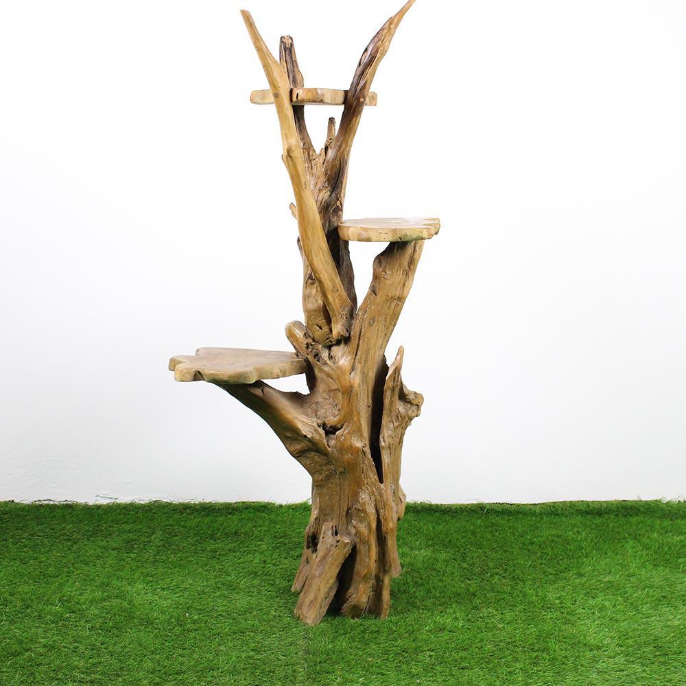 Mercier carrelages arbre chat en bois de teck - Arbre a chat exterieur ...